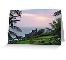 Tanah Lot Temple on Bali Greeting Card