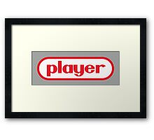 Player Framed Print