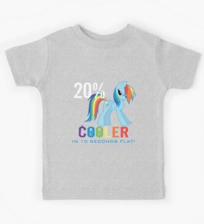20% cooler in 10 seconds flat Kids Tee