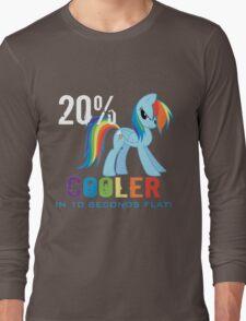 20% cooler in 10 seconds flat Long Sleeve T-Shirt