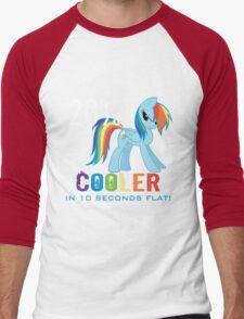 20% cooler in 10 seconds flat Men's Baseball ¾ T-Shirt