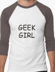 Geek Girl Men's Baseball ¾ T-Shirt
