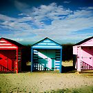 Beach huts by Drew Walker