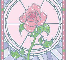 Stained Glass Pink Rose by b-i-t-t-i-e