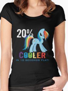 20% cooler in 10 seconds flat! Ladies Women's Fitted Scoop T-Shirt