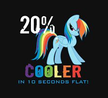 20% cooler in 10 seconds flat! Ladies Womens Fitted T-Shirt