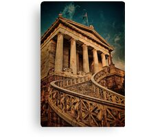 Greece. Athens. National Library. Canvas Print