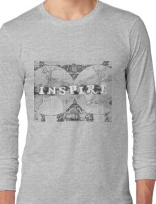 Inspire Old Map series Long Sleeve T-Shirt