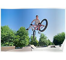 BMX Bike Stunt tail whip Poster