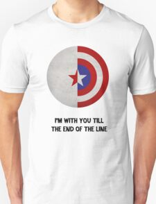 Cap and Bucky Black Text T-Shirt