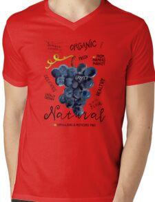 Watercolor grapes Mens V-Neck T-Shirt