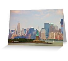 Statue of Liberty and Empire State Building Greeting Card