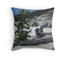 Mammoth Springs, Yellowstone Throw Pillow