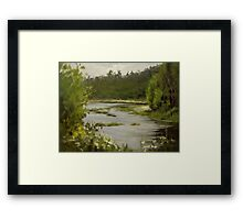 Winery River Framed Print