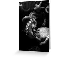 Octopus in black and white Greeting Card
