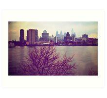 Vintage View of Philadelphia From Afar Art Print