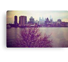 Vintage View of Philadelphia From Afar Metal Print
