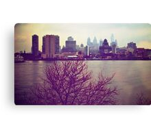 Vintage View of Philadelphia From Afar Canvas Print
