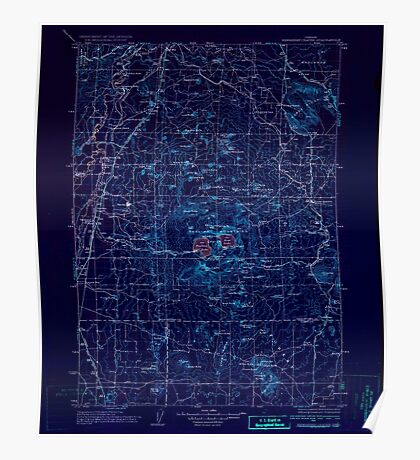 USGS Topo Map Oregon Newberry Crater 283234 1935 125000 Inverted Poster