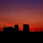 Didcot Towers at Sunset by Mark Hughes