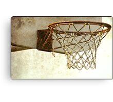 Vintage Textured Basketball Goal Canvas Print