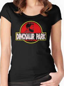 Sanspants Radio - Dinosaur Park Women's Fitted Scoop T-Shirt