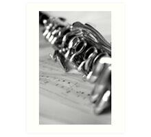 Clarinet Closeup Art Print