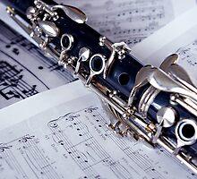 Clarinet on Sheet Music by Lauren Neely
