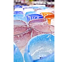 Colorful Glass Bowls Photographic Print