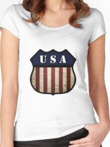 USA Shield Women's Fitted Scoop T-Shirt