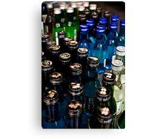 Blue & Green Bottles Canvas Print