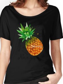 Watercolor pineapple Women's Relaxed Fit T-Shirt