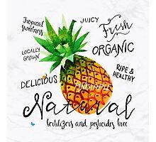 Watercolor pineapple Photographic Print