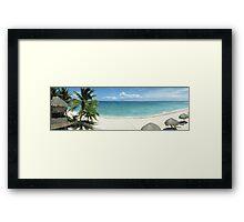 Day on the beach - Akumal, Mexico Framed Print