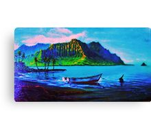 Kaneohe Bay Afternoon finished version Canvas Print