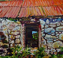 Ruined Farm Buildings on the Dairyland Road, Straid, County Antrim by Laura Butler