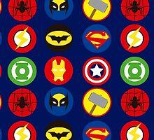 superheroes logos by electradesigns