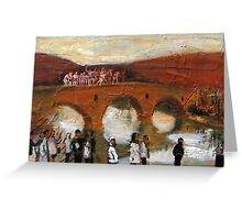 Jump - in the icy river for the cross figurative painting Greeting Card
