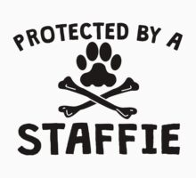 Protected By A Staffie Kids Clothes