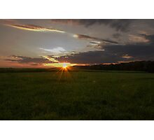 Sunset on the Cornfield Photographic Print