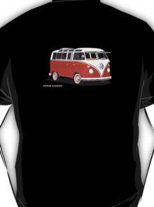 VW Bus T2 Samba Red White T-Shirt