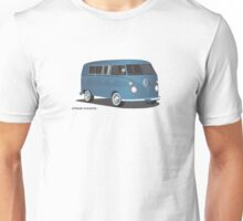 VW Bus T2 Transporter Blue Blk Unisex T-Shirt