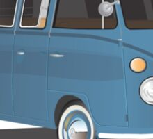 VW Bus T2 Transporter Blue Blk Sticker