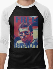 FREE BRADY Men's Baseball ¾ T-Shirt