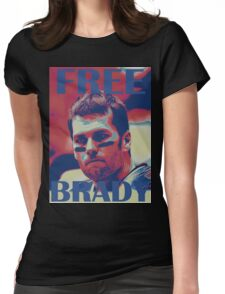 FREE BRADY Womens Fitted T-Shirt