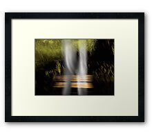 They first met at the bench of dreams...   Framed Print