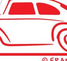 VW Beetle Speedy Red Sticker