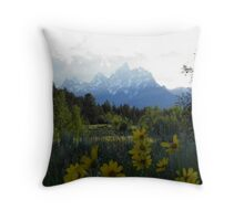 Teton flowers Throw Pillow