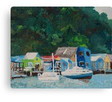 Paremata Boat Sheds Canvas Print
