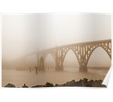 Bridge in Sepia Poster